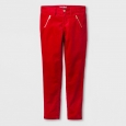 Girls' Velvet Skinny Fashion Pants - Cat & Jack Red Velvet 6