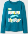 Girls Youth Cat & Jack Long Sleeve Graphic Shirt Size Large 10-12 (1839)