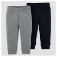 Baby Boys' 2pk Pants - Just One You Made by Carter's Gray/Black 3M