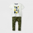 Baby Boys' 2pc Yay All Day T-Shirt and Jogger Set - Cat & Jack Cream/Dark
