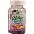Nutrition Now Rhino Gummy Chewy C Strawberry Orange Lemon and Cherry 60 Gummy Bears