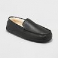Goodfellow & Co Men's Carlo Leather Driving Slippers - Black - Size:7