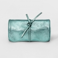 Women's Jewelry Roll with Interior Jewelry Organizer - A New Day Mint Green