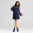 Women's Lace Bell-sleeve Dress - Xhilaration (juniors') Navy S
