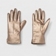 Women's Leather Tech Touch Gloves - A Day Gold Xs/s