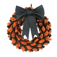 Halloween Fabric Bow Wreath - Hyde and Eek! Boutique