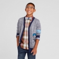 Boys' V-Neck Letterman Cardigan Cat & Jack Navy M, Blue