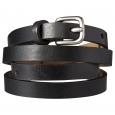 Merona Black Skinny Belt - XL