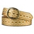 Mossimo Women's Diamond Print Belt - Gold - Size:l