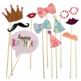 12ct Party Photo Props - Spritz, Multi-Colored