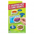16ct Valentine's Day Mello Smello Comic Magnets Cards, Multi-Colored