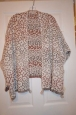 Knox Rose Women's Size M Medium Multi-colored Over-sized Poncho Cape Sweater