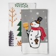 Wondershop 2pk Kitchen Towel- Snowman