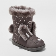 Toddler Girls' Kori Bunny Cozy Fashion Boots - Cat & Jack Gray 9