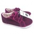 Cat & Jack Little Girl's Tatum Velvet Sneakers Size 11 Double Strap Pink $17