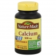 Nature Made Calcium, 500 mg, With Vitamin D, Tablets, 130 tablets - PHARMAVITE