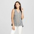 Women's Embellished Knit Tank - Knox Rose Gray S