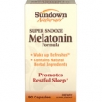 Sundown Naturals Super Snooze Melatonin Formula 90 Capsules