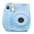 Fujifilm Instax Mini-7s - Light Blue Camera -new Sealed -- Bonus Film Pack-