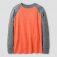 Boys' Long Sleeve Baseball T-Shirt - Cat & Jack Orange M