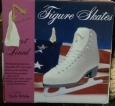 American Athletic Shoe Girl's Tricot Lined Ice Skates, White, 4 Figure Skates 49