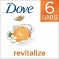 Dove go fresh Revitalize Beauty Bar, 4 oz, Mandarin & Tiare Flower, 6 ea