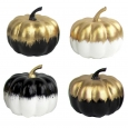Mini Pumpkin Decor Gold & Black - Bullseye's Playground