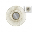 Urban Trends Collection UTC31003 Metallic Goldtone Round Metal Mirror