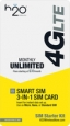 H2o Wireless - 3-in-1 Sim Card - Yellow