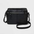 Women's Camera Crossbody Handbag - Merona&153; Black