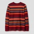 Boys' Long Sleeve Stripe T-Shirt - Cat & Jack Red M