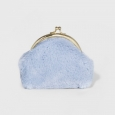 Women's Faux Fur Coin Purse - A New Day White Hyacyinth