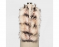 Mossimo Supply Co. Women's Faux Fur Stole Cold Weather Scarf Pink & Gray