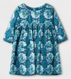 Toddler Girls Genuine Kids From Oshkosh A Line Dress Size 12 Months (1426) Blue