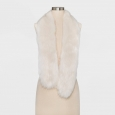 Mossimo Supply Co. Women's Cold Weather Scarves Scarf Stole Faux Fur Cream