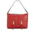 Tommy Hilfiger T Group Leather Hobo (Tommy Red)