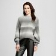 Who What Wear Women's Cocoon Sleeve Neck Sweater - Gray - Size:xl