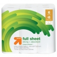 Full Sheet White Paper Towels - 6 Big Rolls - up & up