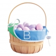 Monogram Easter Basket Liner Cool Colors Z - Spritz, Green Blue
