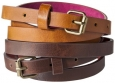 Women's Two Pack Skinny Belt - Brown - Mossimo Supply Co. And 153;