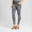 Women's Jeans Utility Jeggings - Mossimo Camo Gray 10