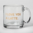 13oz Glass Contempo Mug Latte - Threshold
