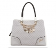 GUESS Rakelle Girlfriend Satchel (Grey Multi)