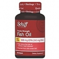 Schiff Double Strength Omega-3 Fish Oil Softgels, 1000 mg, 60/Pack