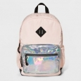 Women's Nylon Backpack With Iridescent Pocket - Mossimo Supply Co.&153; Pink