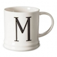 Monogrammed Porcelain Mug 15oz White With Black Letter M - Threshold&153;