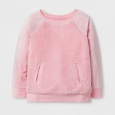 Toddler Girls' Sherpa and Velour Pullover - Cat & Jack Restful Pink 4T
