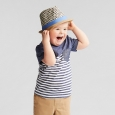 Toddler Boys' Pocket Short Sleeve T-Shirt - Cat & Jack Navy Stripe 3T, Blue