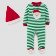 Baby Boys' 2pc Striped Sleep N' Play and Hat Set - Just One You Made
