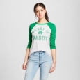 Women's Ready To Paddy 3/4 Sleeve Raglan Graphic T-shirt - Modern Lux (jun